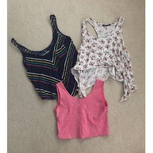 Cropped Patterned Tank Top Bundle!!